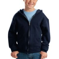 Youth NuBlend ® Full Zip Hooded Sweatshirt Thumbnail