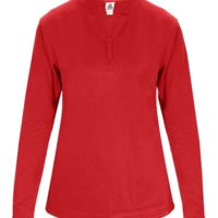 Women's 1/4 Zip Poly Fleece Pullover Thumbnail