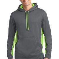 dp - Sport Wick ® Fleece Colorblock Hooded Pullover Thumbnail