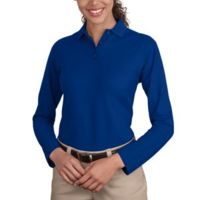 DP Ladies Silk Touch™ Long Sleeve Polo Thumbnail
